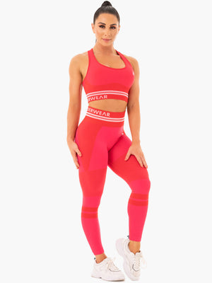 Ryderwear | Freestyle Seamless High Waisted Leggings - Red