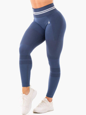 Ryderwear | Freestyle Seamless High Waisted Leggings - Steel Blue | MVMNT LMTD