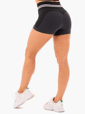 Ryderwear | Freestyle Seamless High Waisted Shorts - Black | MVMNT LMTD