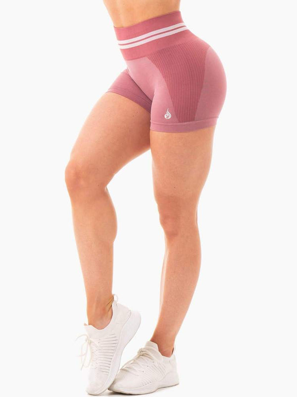 Ryderwear | Freestyle Seamless High Waisted Shorts - Dusty Pink | MVMNT LMTD
