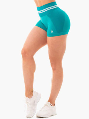 Ryderwear | Freestyle Seamless High Waisted Shorts - Teal | MVMNT LMTD