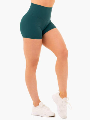 Ryderwear | NKD High Waisted Shorts - Teal | MVMNT LMTD