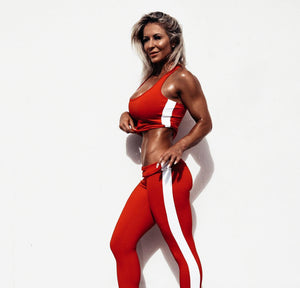 Adonis.Gear | MVMNT LMTD | LUNA RED (CROP RACERBACK + 7/8 TIGHTS) SET