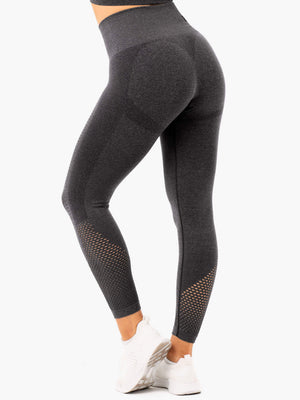 Ryderwear | Seamless Stapels Leggings - Charcoal Marl | MVMNT LMTD