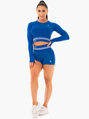 Ryderwear | Freestyle Seamless Long Sleeve Crop - Blue | MVMNT LMTD