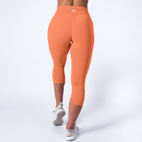 Muscle Nation | MVMNT LMTD | 7/8 High Waist Scrunch Leggings – PEACH | Australia