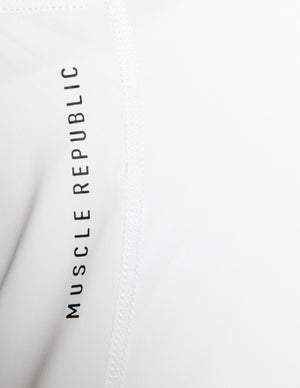 Muscle Republic | Luxe Tie Back Tank - White | MVMNT LMTD