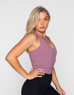 Muscle Republic | Luxe Midriff Tank - Purple | MVMNT LMTD
