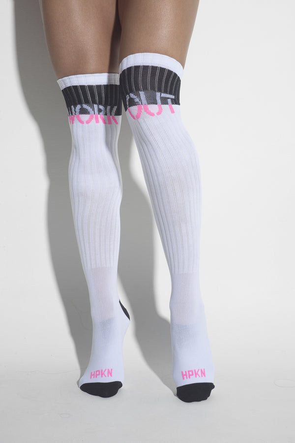 Hipkini | MVMNT LMTD | Hipkini White Workout Army Socks