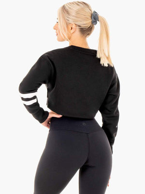 Ryderwear | Motion Cropped Sweater - Black | MVMNT LMTD