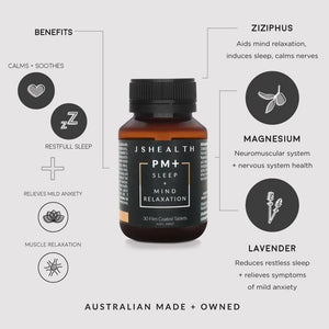 JSHealth Vitamins | PM+ Sleep + Mind Relaxation | MVMNT LMTD