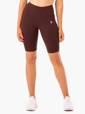 Ryderwear | Staples Scrunch Bum Bike Shorts - Chocolate | MVMNT LMTD