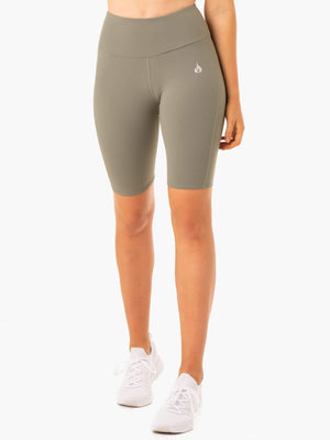 Ryderwear | Staples Scrunch Bum Bike Shorts - Khaki | MVMNT LMTD