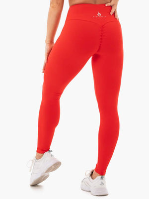 Ryderwear | Staples Scrunch Bum Leggings - Red | MVMNT LMTD