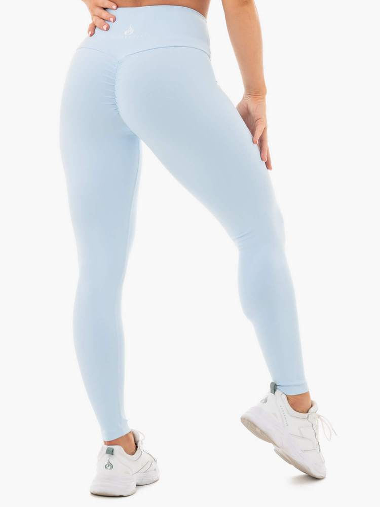 Ryderwear | Staples Scrunch Bum Leggings - Sky Blue | MVMNT LMTD