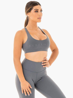 Ryderwear | Motion Sports Bra - Charcoal | MVMNT LMTD
