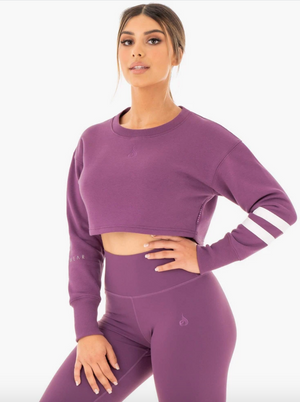 Ryderwear | Motion Cropped Sweater - Purple | MVMNT LMTD