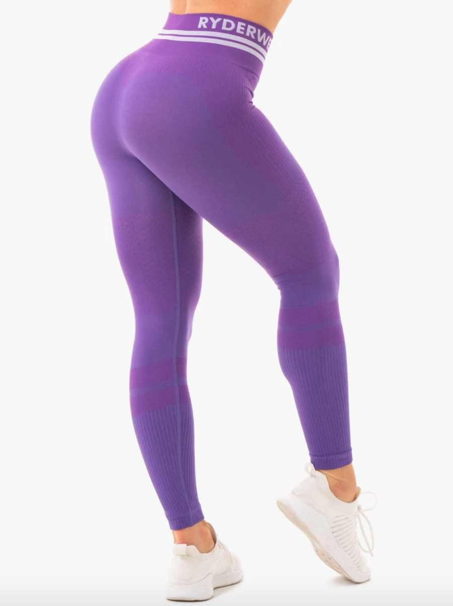 Ryderwear | Freestyle Seamless High Waisted Leggings - Purple | MVMNT LMTD