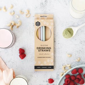 Ever Eco | Silicone Straws Straight - 4 Pack | MVMNT LMTD