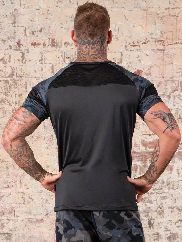 Ryderwear | Shield T-Shirt - Black/Camo | MVMNT LMTD