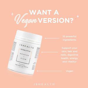 JSHealth Vitamins | Vitality X + Collagen - Nourish + Glow Powder | MVMNT LMTD