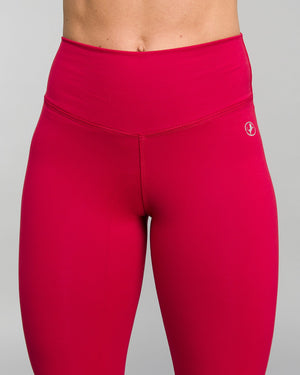 ABS2B Fitness Apparel | MVMNT LMTD | Capri High Waist Scrunch Booty Tights – Red | Australia