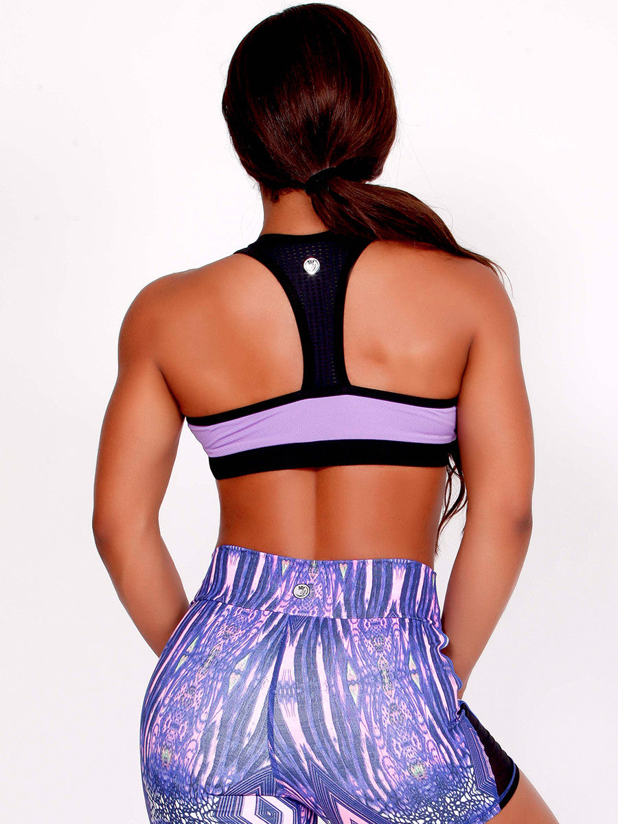 Yarishna Lilac Zip Up Crop MVMNT LMTD