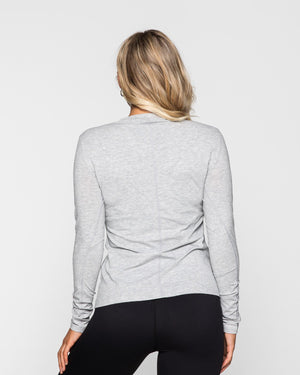 Muscle Republic | Myla Long Sleeve - Grey Marle | MVMNT LMTD