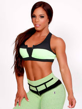 Yarishna Green Zip Up Crop MVMNT LMTD