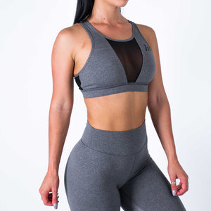 Muscle Nation | MVMNT LMTD | Mesh Sports Bra – DARK GREY | Australia