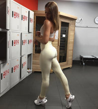 ABS2B Fitness Apparel | Marilyn Munroe Waistband | Vanilla Bean Scrunch Booty Tights (ONLY SIZE L LEFT)