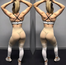 ABS2B Fitness Apparel | Marilyn Munroe Waistband | Nude & White Knee High Stripes Scrunch Booty Tights