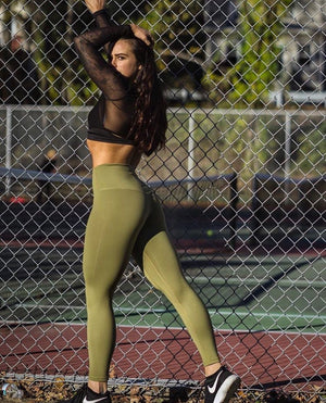 Til You Collapse | Premium Khaki Classic Leggings
