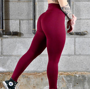 Til You Collapse | Premium Maroon Classic Leggings (ONLY SIZE L & XL LEFT)