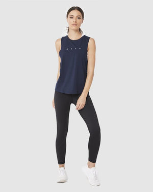 Muscle Republic | Breeze Muscle Tank - Navy | MVMNT LMTD