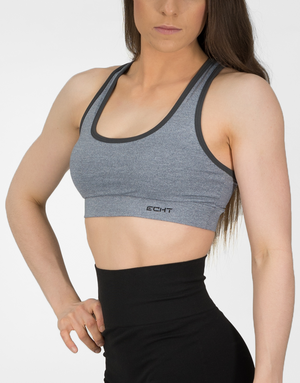 ECHT APPAREL | MVMNT LMTD | ECHT IMPETUS SPORTSBRA - HEATHER GREY