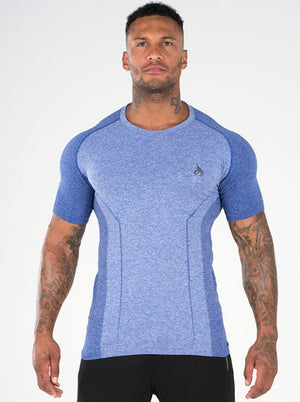 RYDERWEAR | SEAMLESS T-SHIRT BLUE (ONLY SIZE S LEFT)