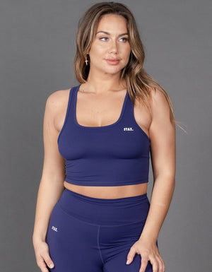 STAX. | Best WMNS Cropped Tank - Royal Navy | MVMNT LMTD
