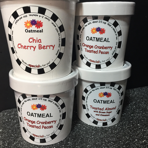 All of our flavors of oatmeal!