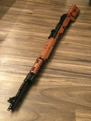Mould King Mauser 98K Sniper Rifle Top View Fully Built