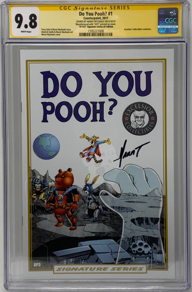 "Do You Pooh? #1 (2017)  CGC 9.8 SS Marat Mychaels ""FF13 Signature Series AP Edition"" Artist Proof (AP3)"