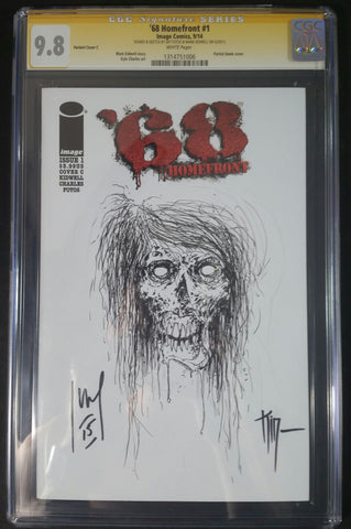 '68 Homefront #1 CGC 9.8 SS Sketch By Jay Fotos Dual Signed also by Mark Kidwell