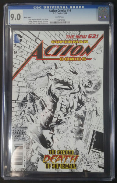 Action Comics #16 CGC 9.0 Sketch Cover