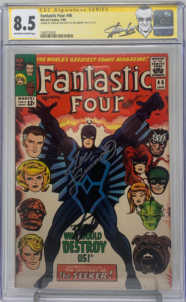 Fantastic Four #46 CGC 8.5 SS Double signed by Stan Lee and Joe Sinnott 1st Appearance Black Bolt