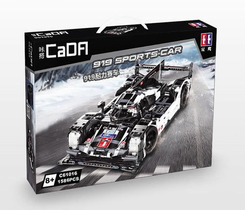CaDA Double Eagle Porsche 919 Hybrid C61016 Brick Set (LEGO STYLE MOTORIZED AND STATIC MODEL)