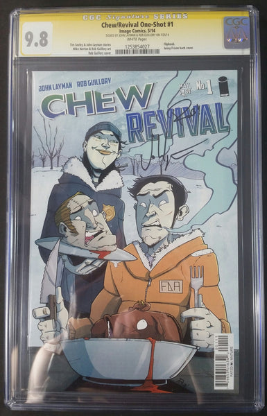 Chew #1 Revival/One Shot CGC 9.8 SS Signed by John Layman & Rob Guillory