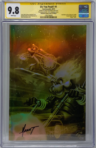 "Do You Pooh? #1 (2019) CGC 9.8 SS Marat Mychaels ""Unknown Comics Gold AP Edition"" (AP3)"