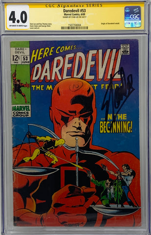 Daredevil #53 CGC 4.0 SS Signed by Stan Lee