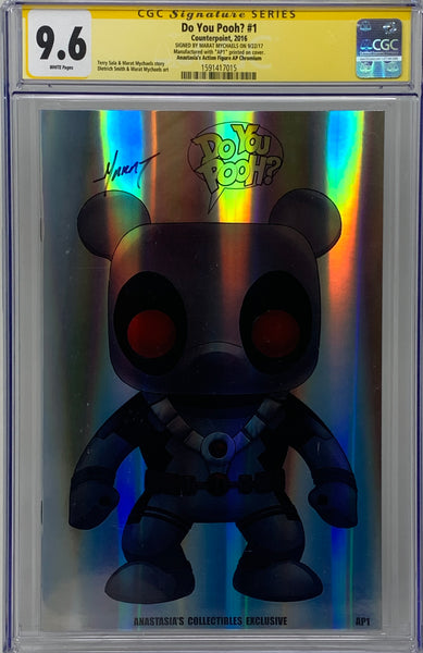 "Do you Pooh? #1 (2017) CGC 9.6 SS Marat Mychaels ""Anastasia's Action Figure"" Chromium ( AP1)"