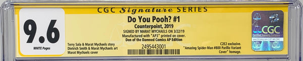 "Do You Pooh? #1 (2019) CGC 9.6 SS Marat Mychaels ""Den of the Damned ASM #800"" AP3"
